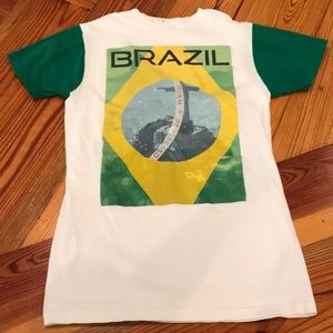 Vintage Brazil graphic tee bay island sports small